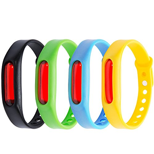 Mosquito Repellent Bracelet 4pc Stylish Silicone Bands 2 Month