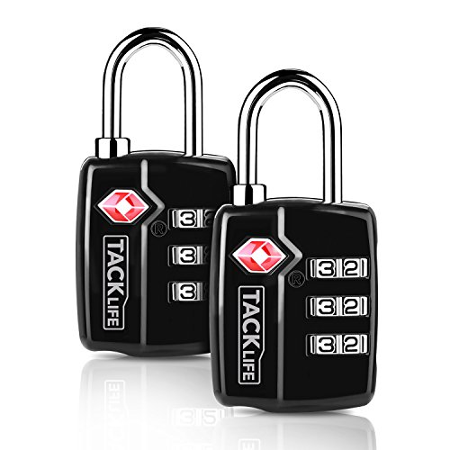c613eeb9ab5e Luggage Padlocks, Tacklife HCL3A TSA Customs Security Luggage Locks 3-Digit  Combination Code Locks Mini Travel Security Padlocks for Bags , Suitcases  ...