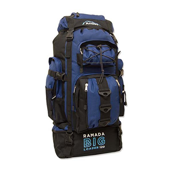 cb9a1e42bb5f Andes Navy Blue Ramada 120L Extra Large Hiking Camping Backpack/Rucksack  Luggage Bag