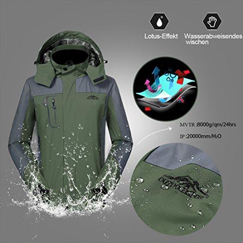 a9170b2b09 GIVBRO Waterproof Jacket Mens Raincoat Sportswear New Design Outdoor Hooded  Softshell Camping Hiking Mountaineer Travel Jackets