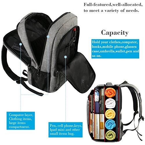 Anti-theft Laptop Notebook Backpack w// USB Charging Port School Bag Mac Travel X