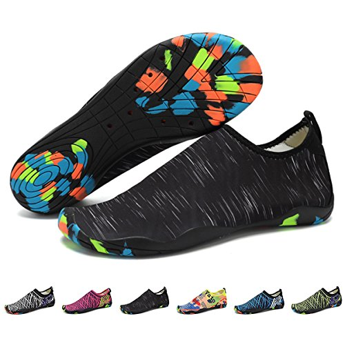 c4d31bec9db552 Barefoot Water Shoes Mens Womens Quick Dry Unisex Sports Aqua Shoes  Lightweight Durable Sole For Beach Pool Sand Swim Surf Yoga Water Exercise  (8UK/42EU, ...