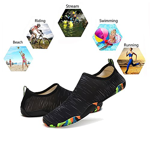 40403d8fbc0d Barefoot Water Shoes Mens Womens Quick Dry Unisex Sports Aqua Shoes  Lightweight Durable Sole For Beach Pool Sand Swim Surf Yoga Water Exercise  ...