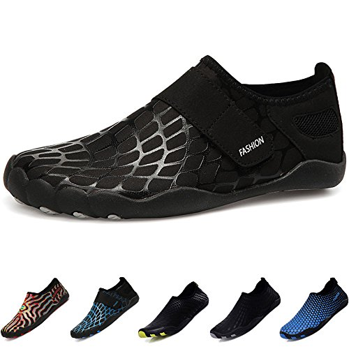f207a1b58 BIGU Water Shoes Mens Womens Barefoot Shoes Beach Snorkeling Swimming Quick  Drying Slip On Yoga Shoes Skin Socks for Unisex Sports Aqua Shoes for  Walking ...
