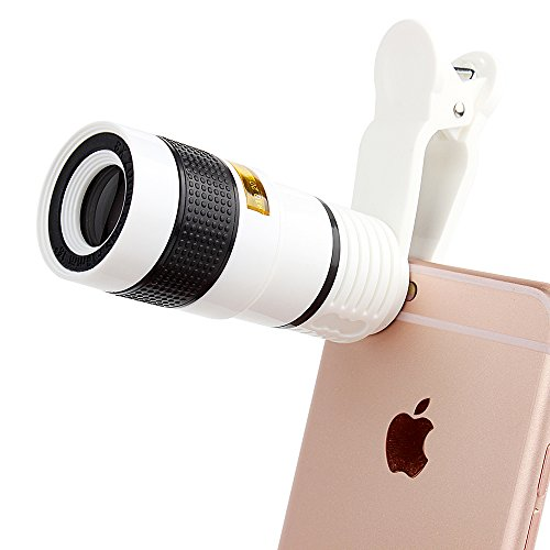 Cell Phone Camera Lens,HanDingSM 8x Optical Zoom Lens Telescope with Ultra Strong Clip for iPhone 8 7s 6s Plus Samsung Galaxy S8 S6 and other Smartphone ...