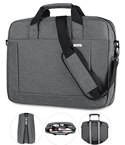 c9d94e9974e8 Voova 15.6 inch Laptop Shoulder Bag Expandable Large Capacity Briefcase w/  Adjustable Shoulder Strap for Business Travel Multi-function Shockproof ...